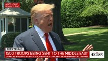 Trump speaks on Mueller report, Nancy Pelosi, Mideast troops