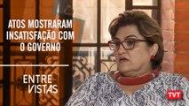 Márcia Lopes – atos contra corte na educação mostraram insatisfação com o governo