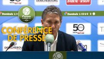 Conférence de presse Troyes - Lens (1-2 ap) / Play-offs Domino's Ligue 2 2018/2019