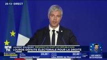 """Laurent Wauquiez souligne un résultat """"pas à la hauteur"""" et une """"reconstruction longue"""" pour Les Républicains"""