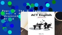 Popular The College Panda's ACT English: Advanced Guide and Workbook - Nielson Phu
