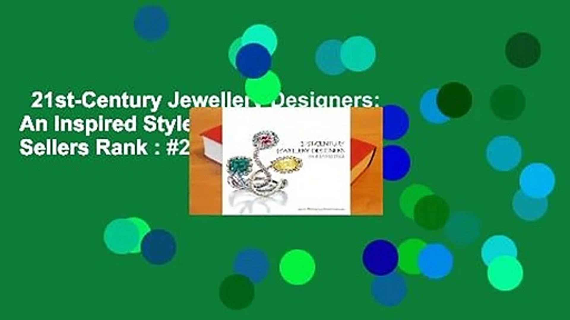 21st-Century Jewellery Designers: An Inspired Style  Best Sellers Rank : #2