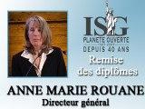Remise des diplômes ISG 2008 - Discours d'Anne-Marie Rouane - Directeur général