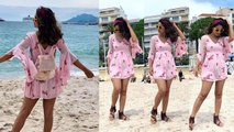 Hina Khan enjoys with boyfriend Rocky Jaiswal at french riviera; Check Out | FilmiBeat