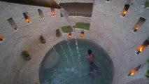 Build Most Amazing Secret Ancient Underground Deep Pool With Secret Underground House Primitive Technology