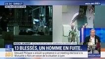 Colis piégé à Lyon : 13 blessés, un homme en fuite (1/2)