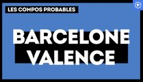 FC Barcelone - Valence CF : les compos probables