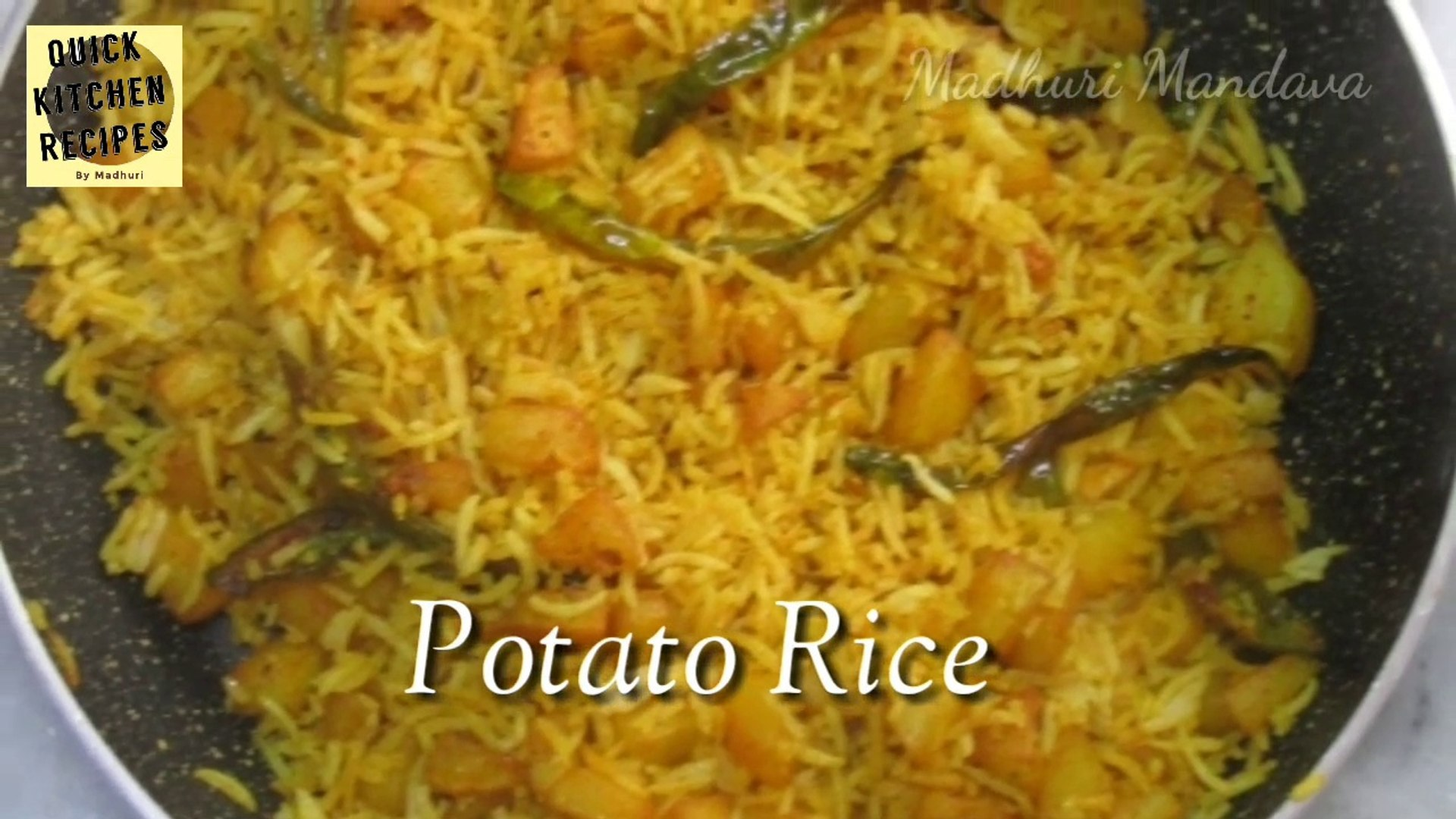 Potato Rice | Aloo Rice | Madhuri Recipe Book