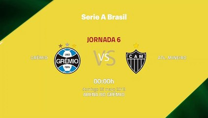 Previa partido entre Grêmio y Atl. Mineiro Jornada 6 Liga Brasileña