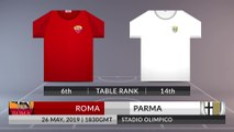 Match Preview: Roma vs Parma on 26/05/2019