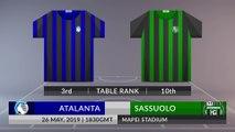 Match Preview: Atalanta vs Sassuolo on 26/05/2019