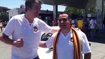 Final Copa del Rey Barcelona - Valencia: De Valencia a Sevilla en un 600, la Peña Valencianista 'Sentiment Pel Mon'