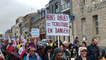 Manifestation contre la fermeture de l'hébergement de la maison perinatale