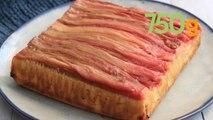 Recette du gâteau renversé à la rhubarbe - 750g