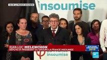 REPLAY - Discours de Jean-Luc Mélenchon après la déroute LFI aux élections européennes
