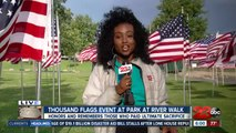 1000 Flags ceremony honors fallen servicemen and women for Memorial Day