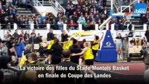 Victoire des filles du Stade Montois 56-46 contre les espoirs de Basket Landes, en finale de la Coupe des Landes