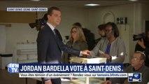 Européennes: Jordan Bardella a voté à Saint-Denis