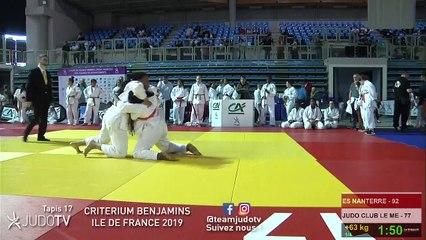 REPLAY TAPIS 17 - CRITERIUM BENJAMINS ILE DE FRANCE 2019