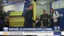 Européennes: Raphaël Glucksmann a voté dans le 10e arrondissement de Paris