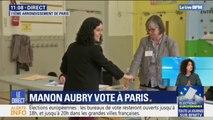 Européennes: Manon Aubry a voté dans le 11e arrondissement de Paris