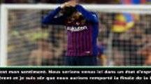 """Copa del Rey - Piqué : """"C'est vraiment difficile pour nous.."""""""