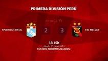 Resumen partido entre Sporting Cristal y FBC Melgar Jornada 15 Apertura Perú - Liga 1