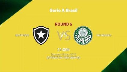 Pre match day between Botafogo and Palmeiras Round 6 Série A