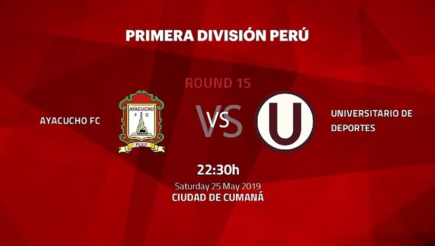 Pre match day between Ayacucho FC and Universitario de Deportes Round 15 Apertura Peru - Liga 1