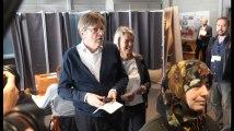 Elections européennes 2019: l'Open Vld Guy Verhofstadt a voté à Mariakerke, Gand