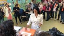 Villacís vota en el colegio Asunción Rincón, en Chamberí