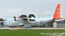 "Lockheed LC-130H Hercules ""Ski Bird"" - United States Air Force ""Pride of Albany"" 83-0491 - taxiing and takeoff at Landsberg Air Base [2160p25]"
