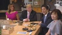 Trump se reúne con Shinzo Abe en Tokio