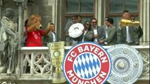 Bayern - Les héros du doublé fêtés sur la Marienplatz