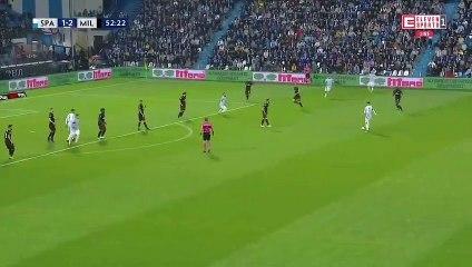 Mohamed Fares buteur face à l'AC Milan