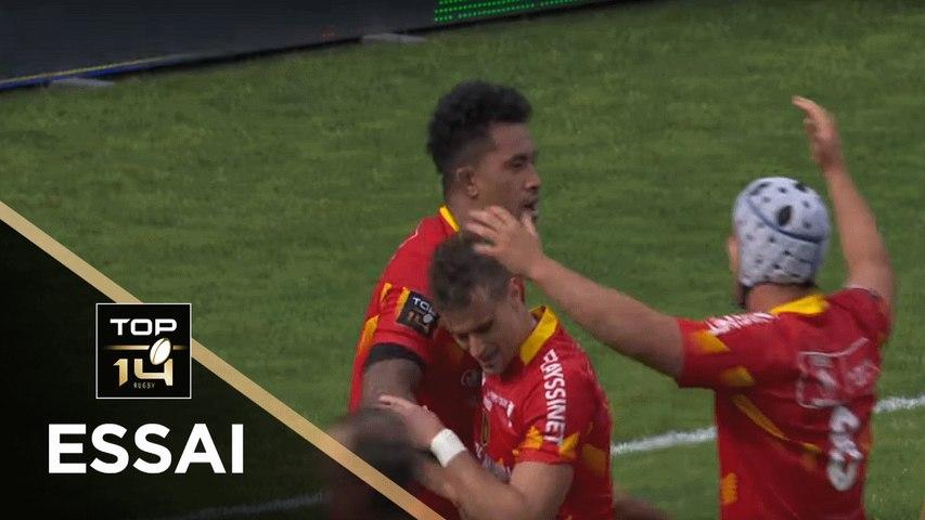 TOP 14 - Essai Masalosalo TUTAIA (USAP) - Toulouse - Perpignan - J26 - Saison 2018/2019