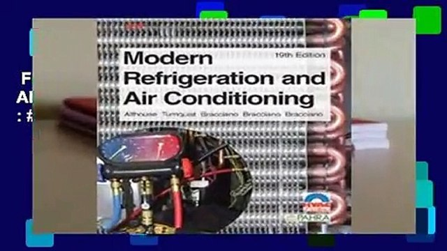 Full E-book  Modern Refrigeration and Air Conditioning  Best Sellers Rank : #5