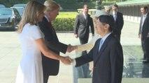 Trump, primer líder extranjero que conoce al nuevo emperador japonés