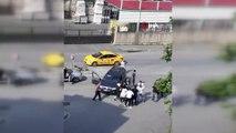 Gaziosmanpaşa'da tekme, tokat ve yumruklu yol verme kavgası kamerada