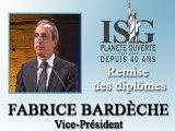 Remise des diplômes ISG 2008 - Discours de Fabrice Bardèche - Vice-Président
