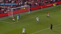 David Beckham régale lors d'un match avec Manchester United