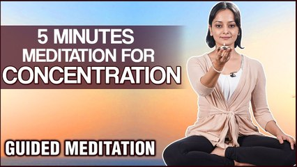 5 Minutes Meditation Can Improve Your Concentration - Guided Meditation for Beginners by Vibha