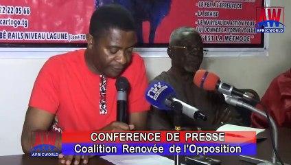 Togo: Déclaration liminaire de la conférence presse de la Coalition Renovée