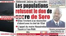 Le Titrologue du 27 Mai 2019 : Des populations d'Odiénné refusent le don de sucre de Guillaume Soro