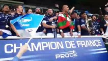 Les Bayonnais champions 2019 entonnent le Vino Griego