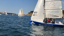 Sorties vespérales, 45 voiliers sur la baie de Saint-Malo