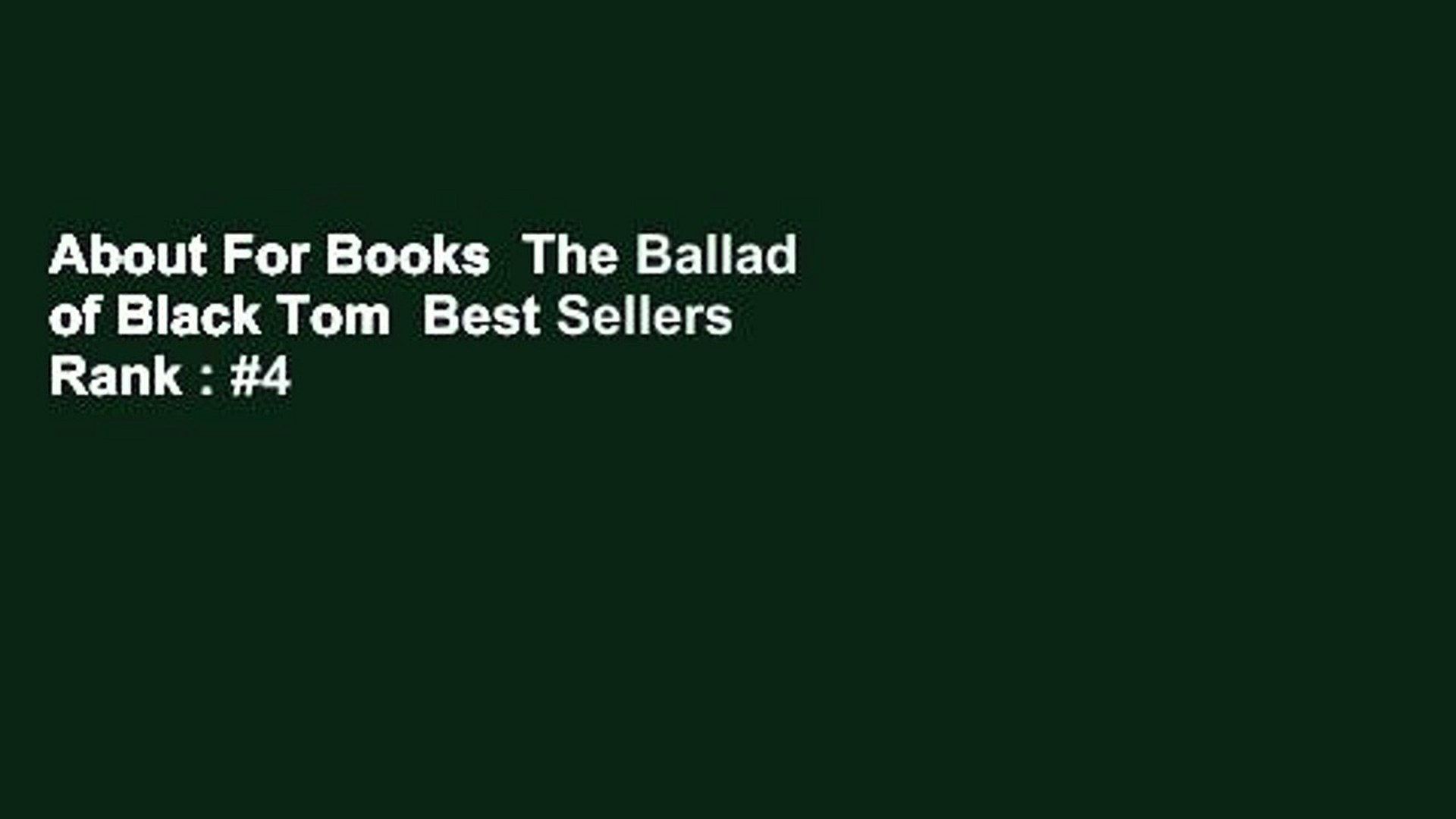 About For Books  The Ballad of Black Tom  Best Sellers Rank : #4
