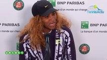 """Roland-Garros 2019 - Serena Williams :  """"J'étais vraiment frustrée..."""""""