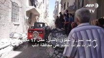 مقتل 17 مدنيا في غارات لقوات النظام على منطقة ادلب السورية (المرصد)