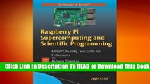 [Read] Raspberry Pi Supercomputing and Scientific Programming: MPI4PY, NumPy, and SciPy for
